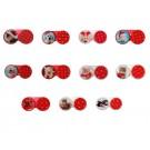 pouzdro ozdobné na kontaktní čočky - vánoce