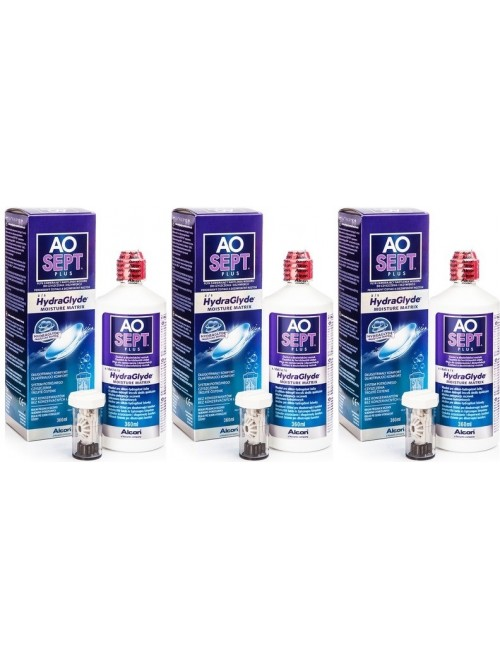 roztok AOSEPT PLUS HydraGlyde 3 x 360 ml