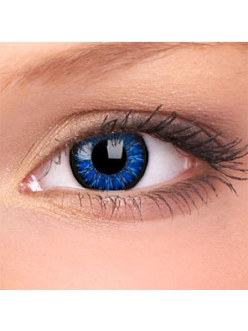 barevné čočky nedioptrické Glamour blue (2 čočky)