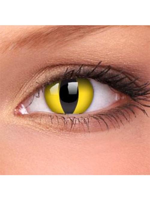 barevné dioptické čočky CRAZY cat eye (2 čočky)