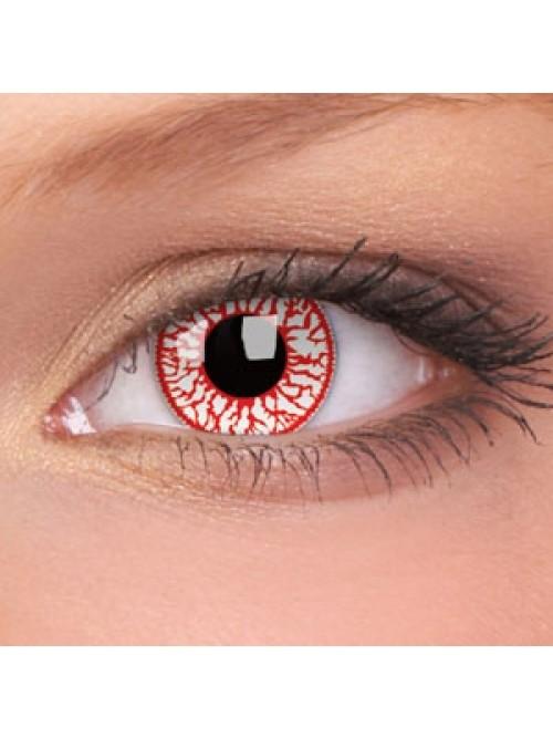 CRAZY čočky jednodenní nedioptrické - blood shot (2 čočky)