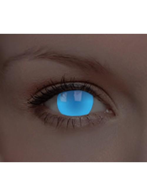 svítící CRAZY glow electric blue UV (1 roční čočka)