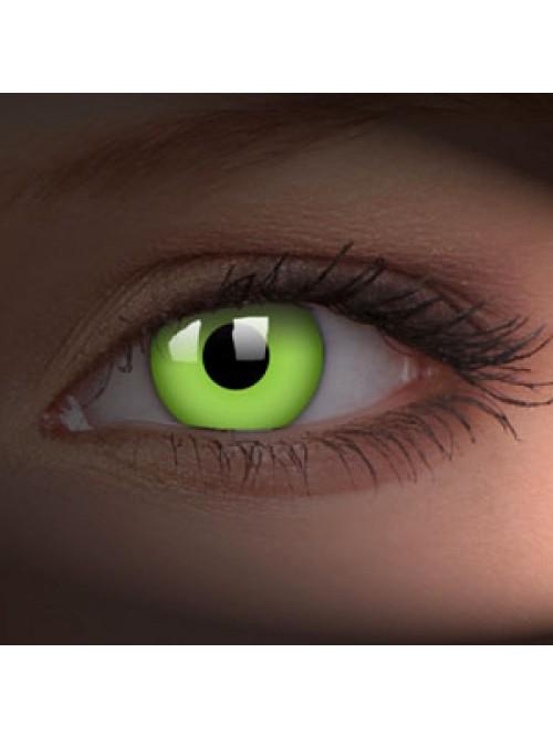 barevné čočky CRAZY glow green UV svítící 1ks