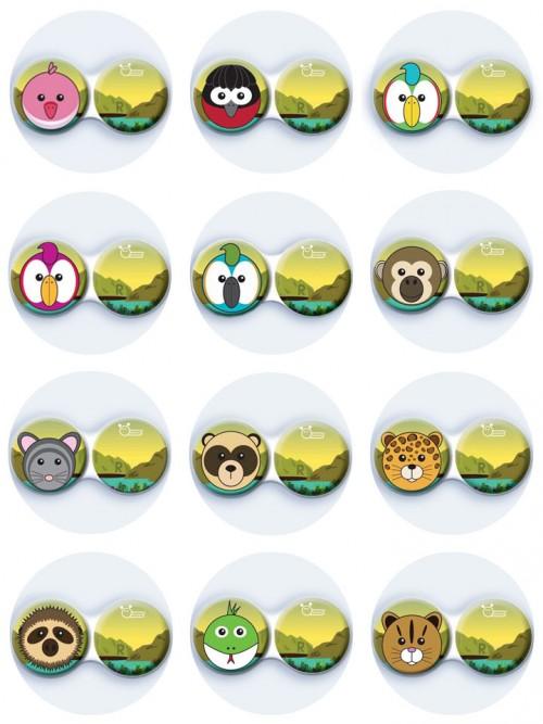 antibakteriální pouzdro ozdobné - Zoo