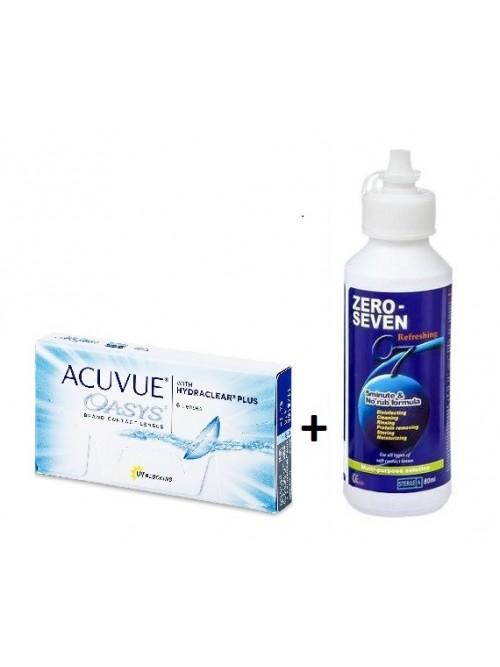 Acuvue Oasys (6 čoček) + roztok 07 refreshing 80 ml