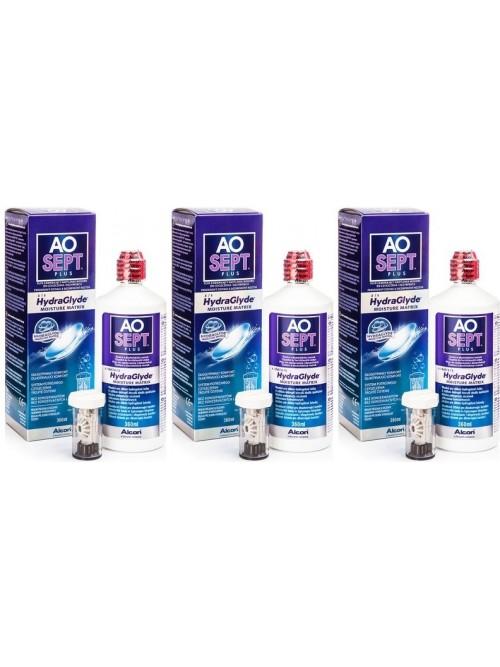 roztok AOSEPT PLUS HydraGlyde 3 x 360 ml