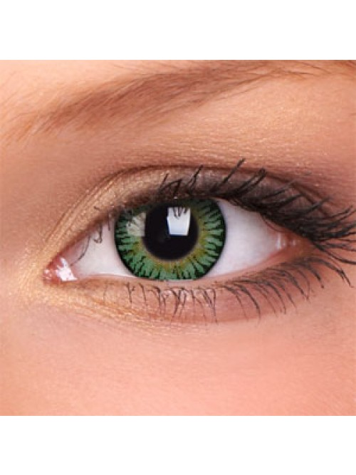 barevné čočky dioptrické 3 TONES green (2 čočky)