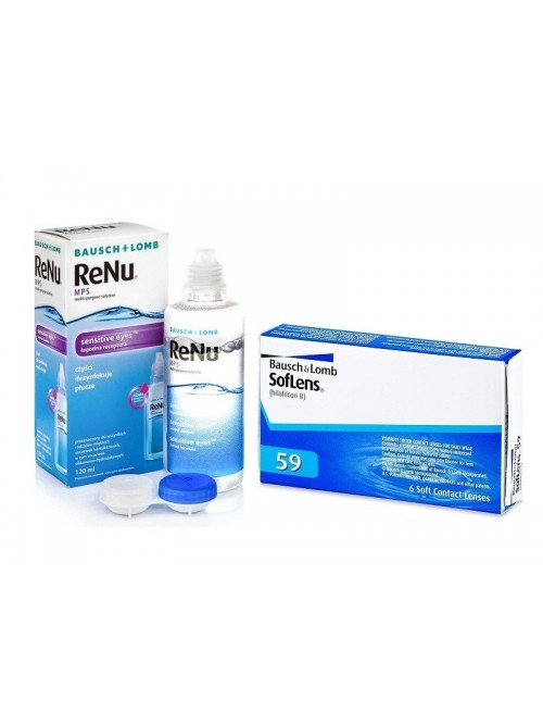SofLens 59 (6 čoček) + roztok ReNu MPS Sensitive Eyes 120 ml