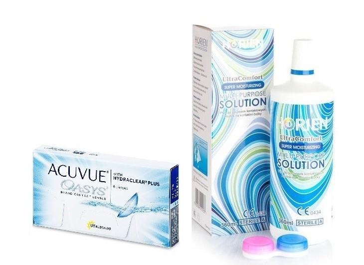 Acuvue Oasys (6 čoček) + roztok Horien 360 ml