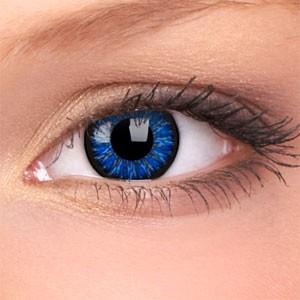 barevné čočky dioptrické Glamour blue (2 čočky)
